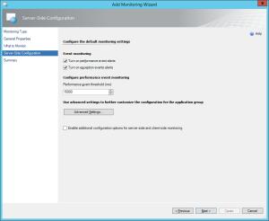 Figure 6. Server-Side Configuration window, APM configuration wizard.