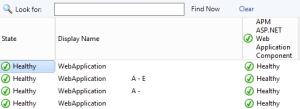 Figure 9. State view APM ASP.NET Web Application Component