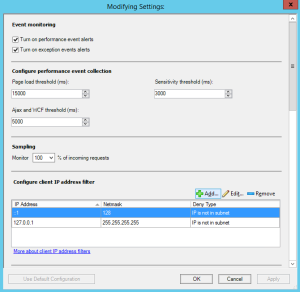 Figure 7. Customize Settings