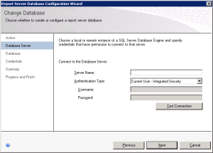 Figure 04. Database Server wizard