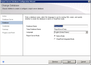 Figure 05. Database Server name wizard