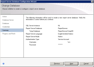 Figure 07. Database Summary wizard