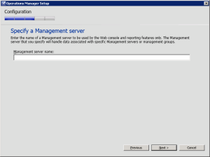 Figure 14. Select Management Server