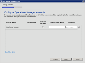 Figure 19. Configure Accounts