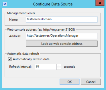 Figure 2. Data source configuration