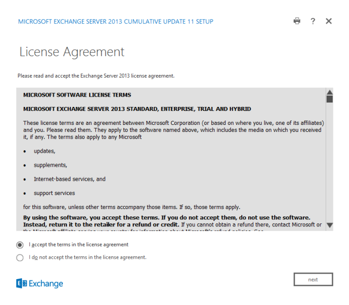 Figure 11. License Agreement terms