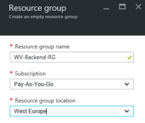 Add Resource group