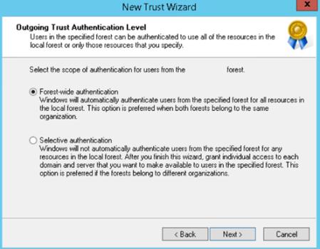 outgoing-trust-authentication-level
